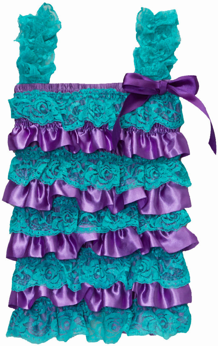 Mermaid Lace/Satin  Romper