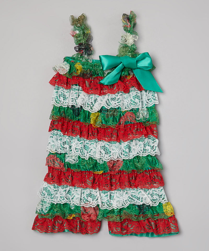 Christmas Lace Romper