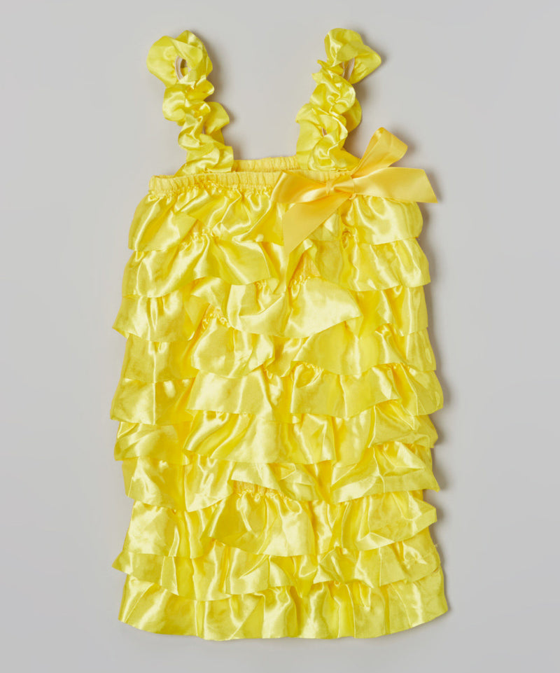 Bright Yellow Satin Romper