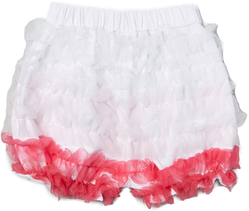 White/Pink/Hot Pink Ruffle Short