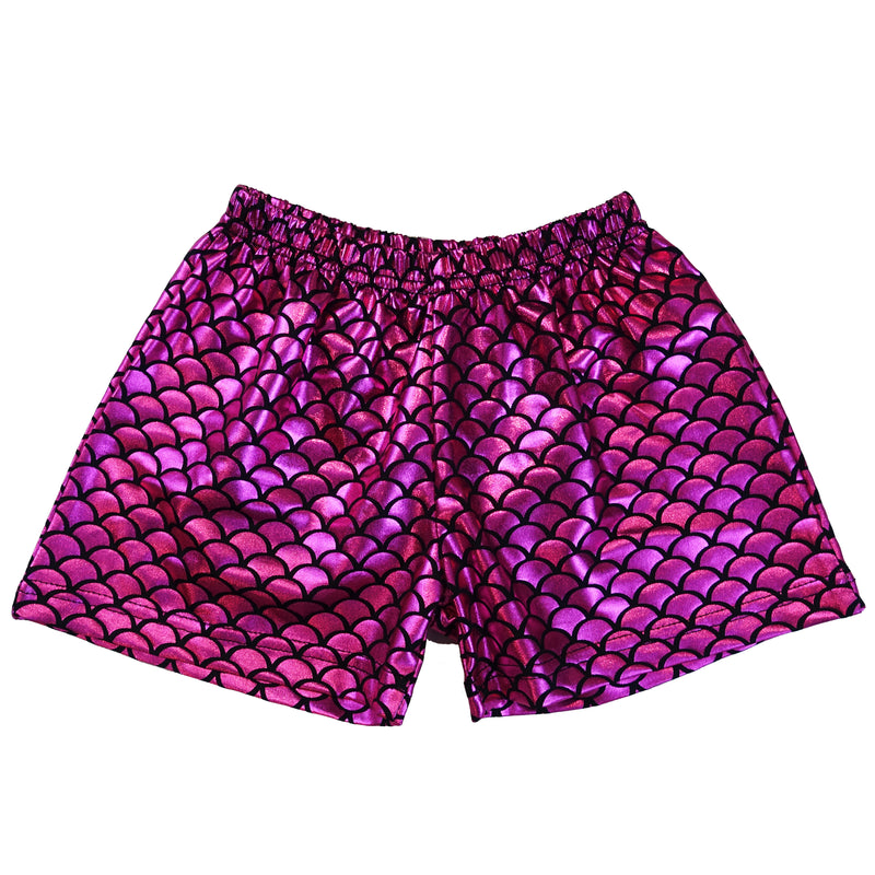 Hot Pink Mermaid Shorts For Dance/Gymnastic/Swimming