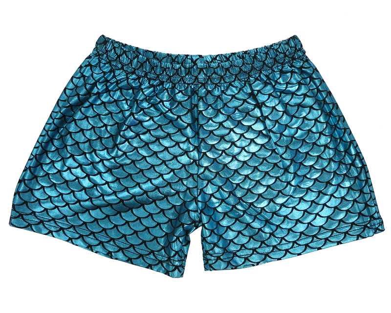Blue Mermaid Shorts For Dance/Gymnastic/Swimming