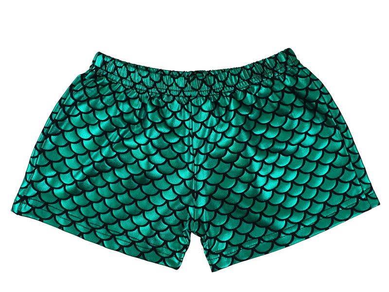 Green Mermaid Shorts For Dance/Gymnastic/Swimming