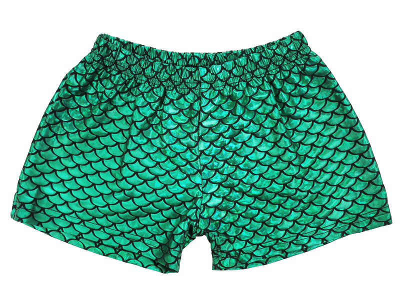 Laser Green Mermaid Shorts For Dance/Gymnastic/Swimming