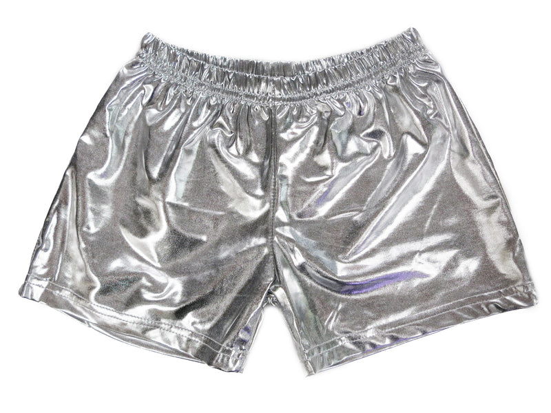 Silver Shorts For Dance/Gymnastic/Swimming