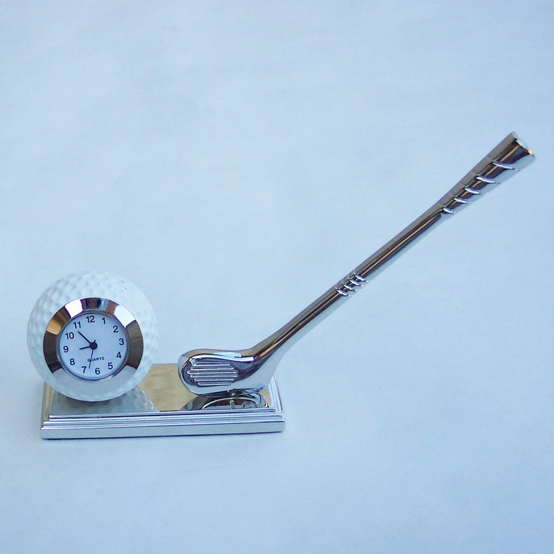 Silver Golf Ball Collectible Mini Clock