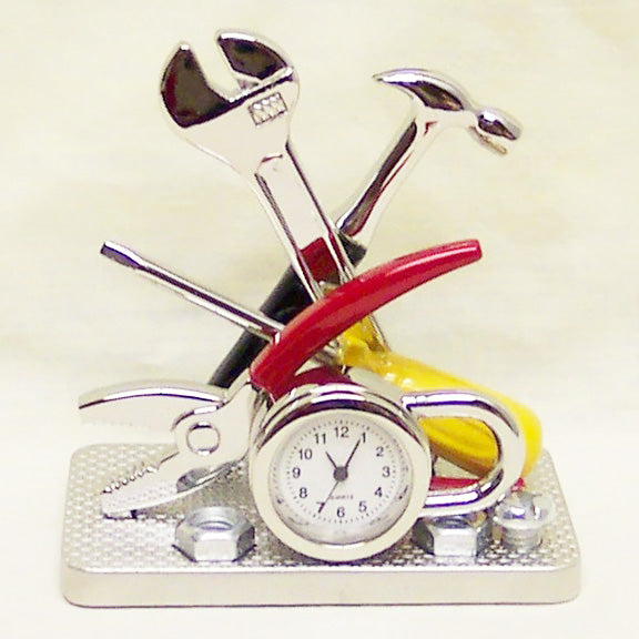 Silver Tools Collectible Mini Clock
