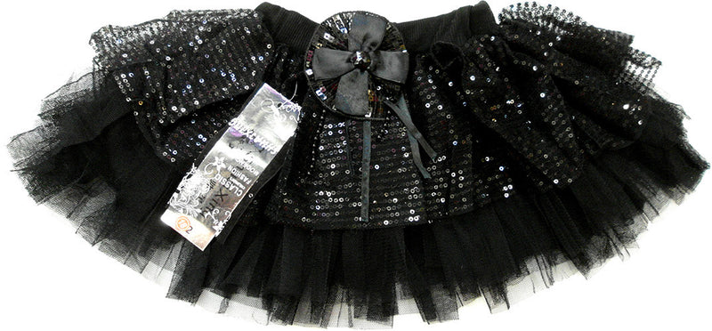 Black With Glitter Skirt