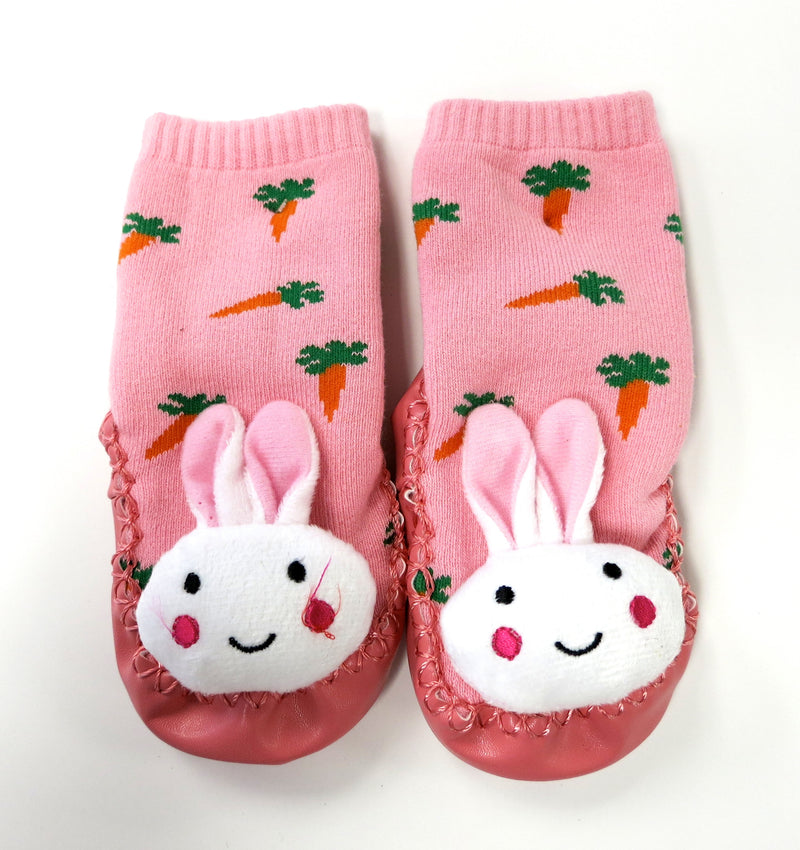 Pink Bunny Sound Sock Shoes