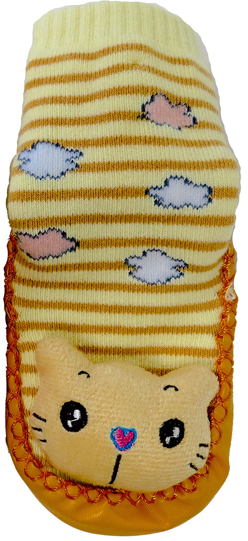 Orange Cat Sound Sock Shoes