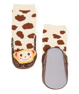 Brown Monkey Sound Sock Shoes