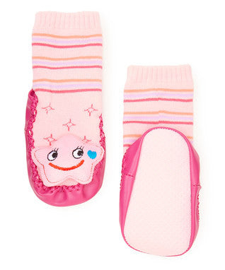 Pink Star Sound Sock Shoes