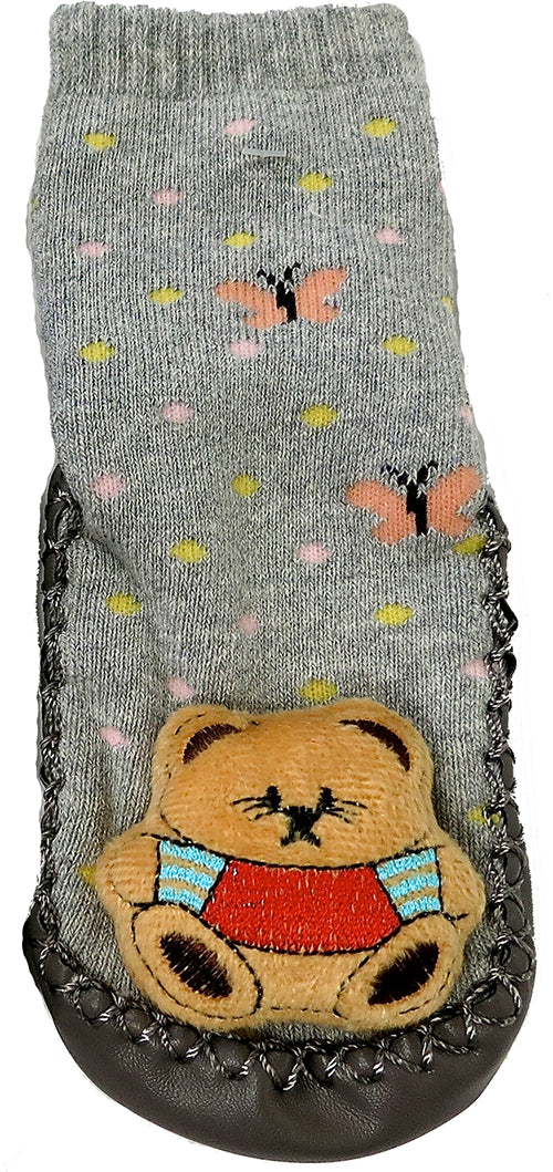 Gray Winnie The Pooh Sound Sock Shoes