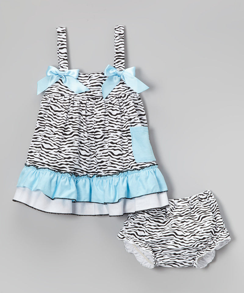 Zebra Blue Swing Top Set