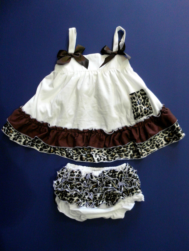 Ivory Cheetah Swing Top Set