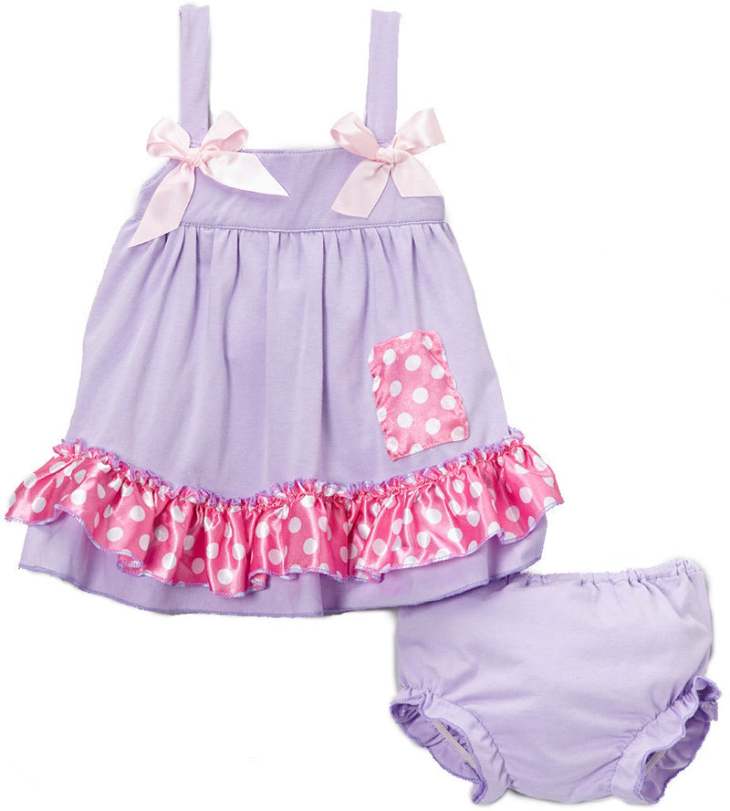 Lavenda Pink Dot Swing Top Set