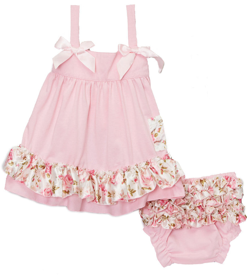Pink Floral Swing Top Set