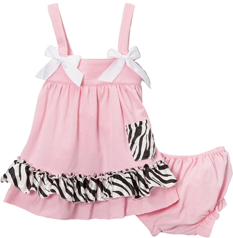 Pink Zebra Swing Top Set
