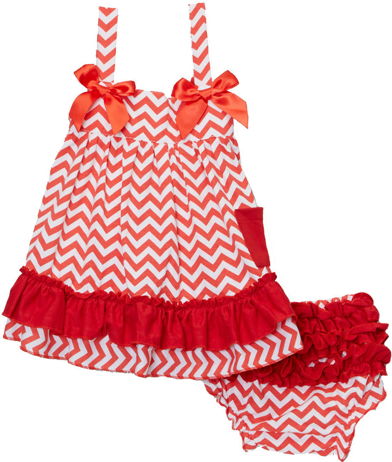 Red Chevron  Swing Top