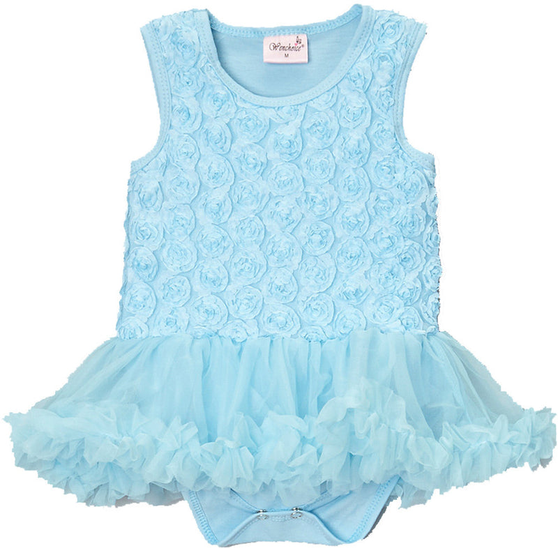Blue Rose Bodysuit Attach Tutu