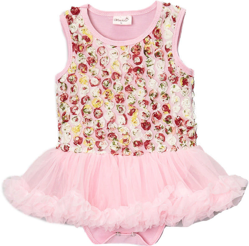 Pink Multi Rose Bodysuit Attach Tutu