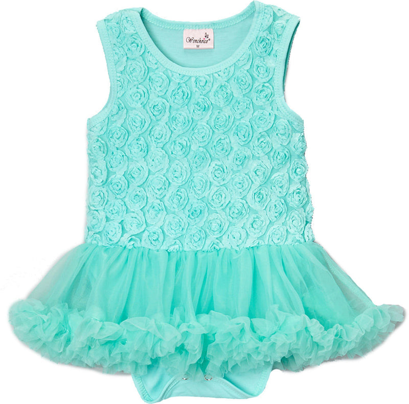 Teal Rose Bodysuit Attach Tutu