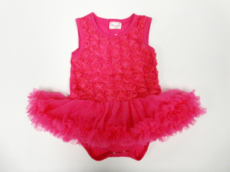 Hot Pink Rose Bodysuit Attach Tutu