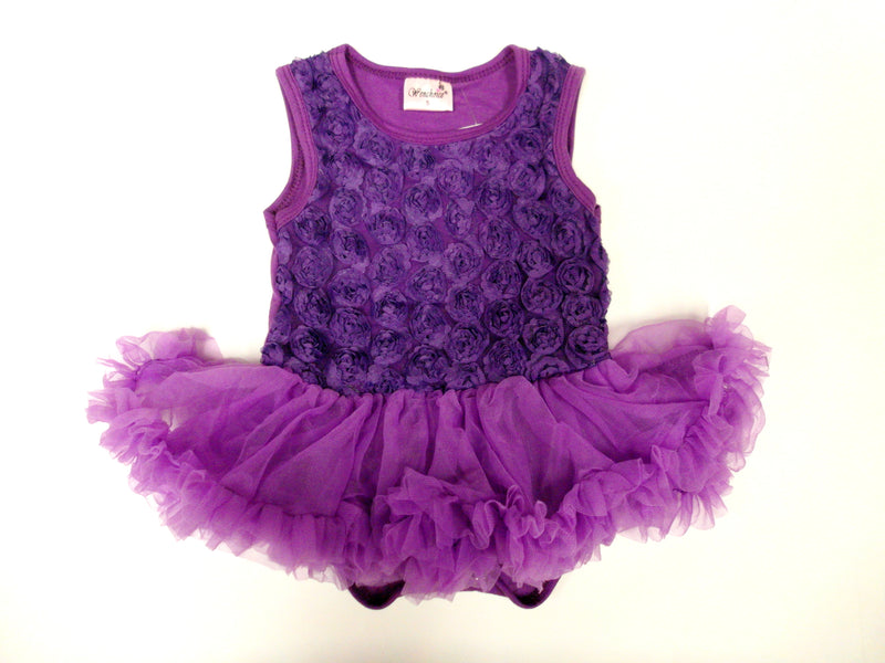 Purple Rose Bodysuit Attach Tutu
