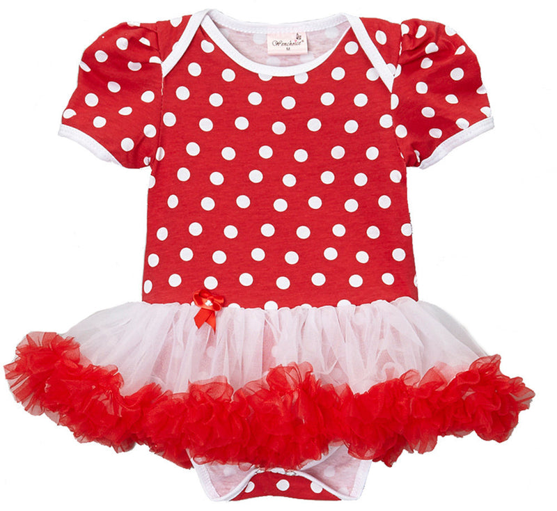 Red White Pockadot Bodysuit Attach Tutu