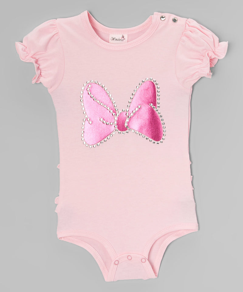 Pink Minnie Bow Ruffle Butt Bodysuit