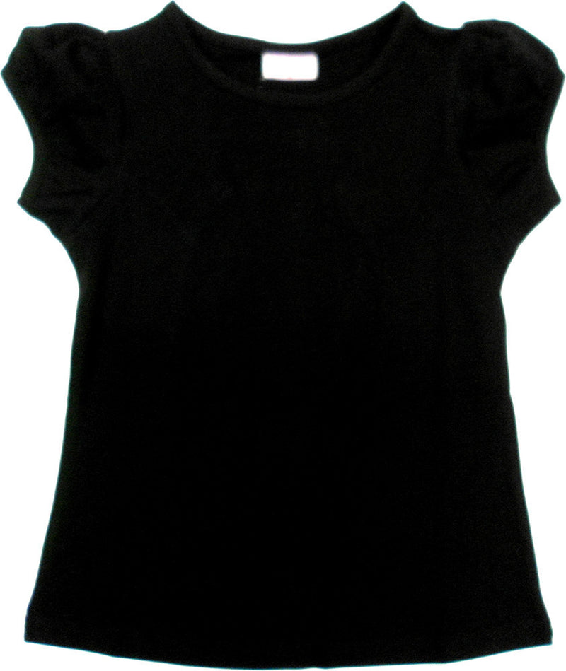 Black Plain Short Sleeve Shirt
