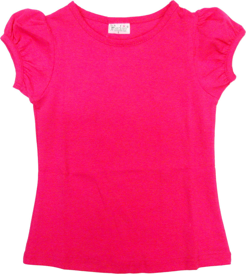 Hot Pink Plain Short Sleeve Shirt