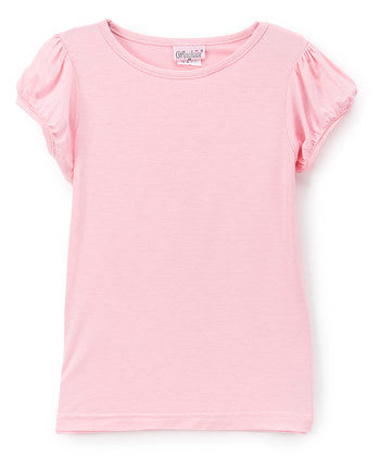 Pink Plain Short Sleeve Shirt