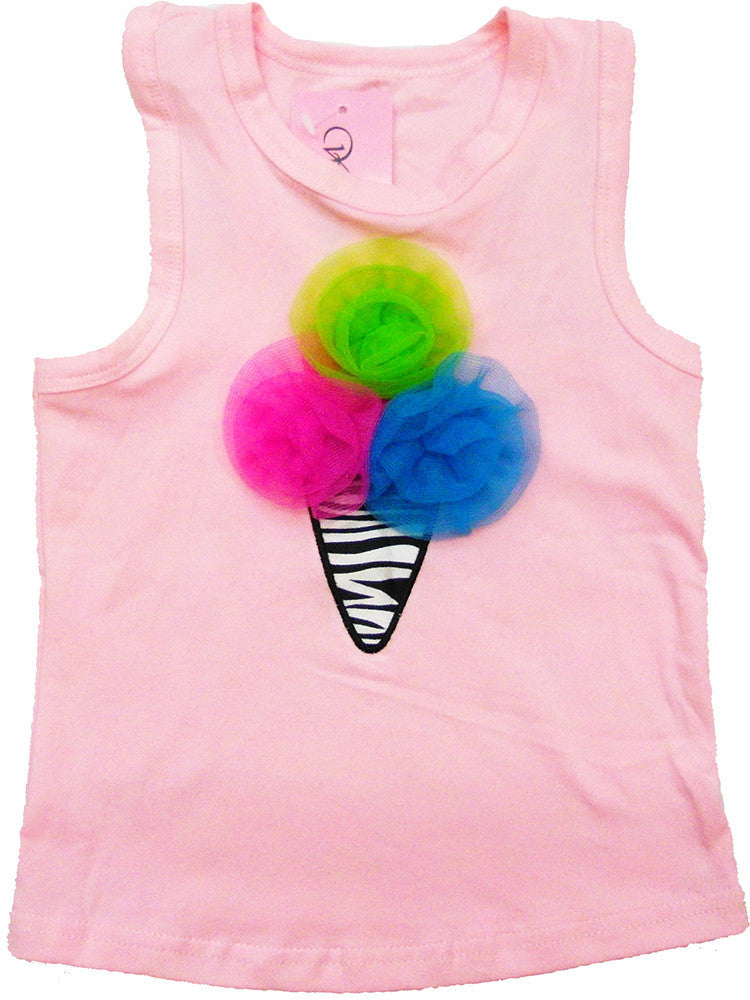 Pink Ice Cream Tank Top