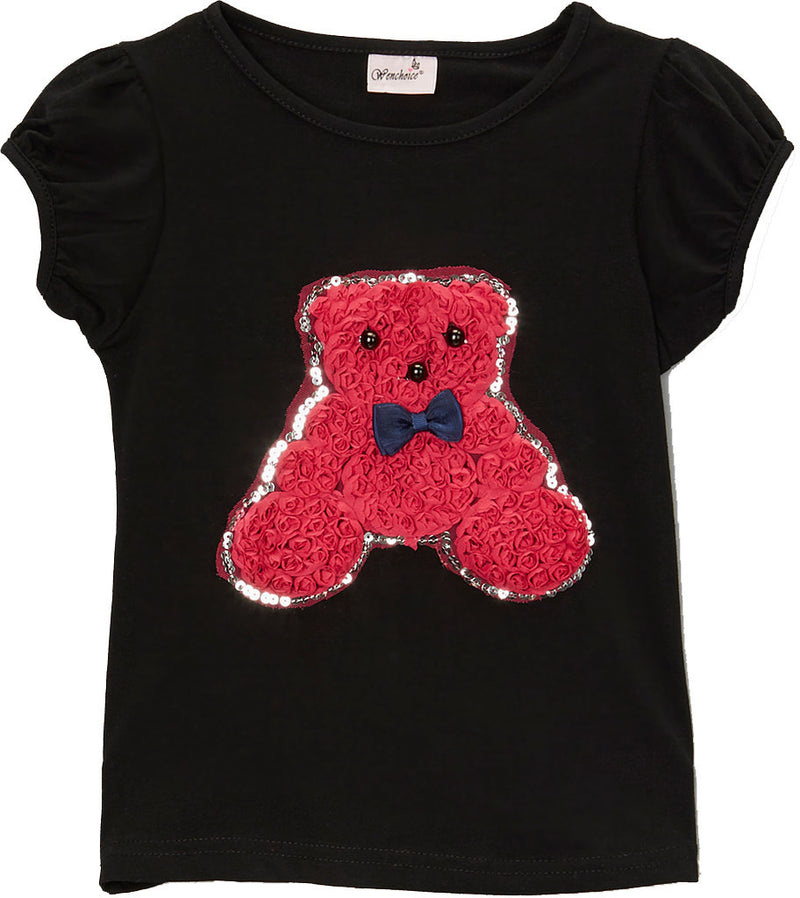 Black Teddy Bear T-Shirt