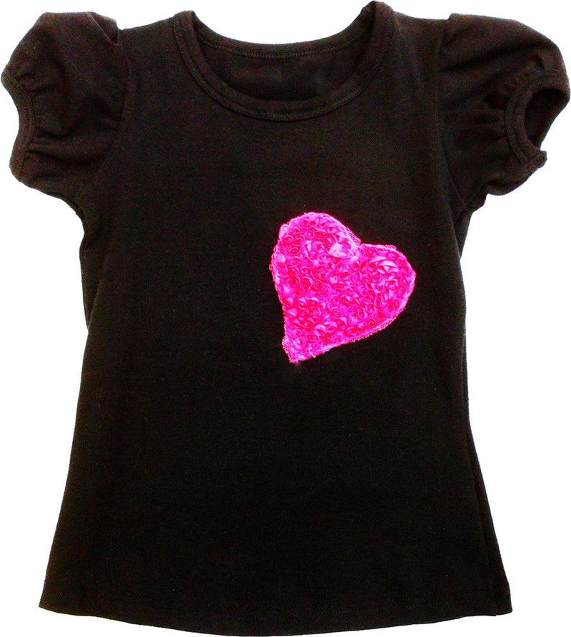 Black Heart Short Sleeve Shirt