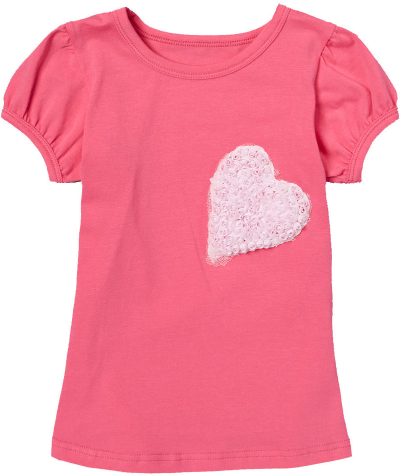 Hot Pink Heart Short Sleeve Shirt
