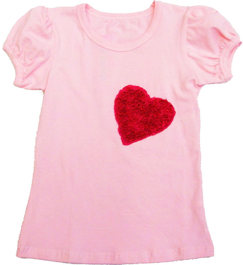 Pink Heart Short Sleeve Shirt