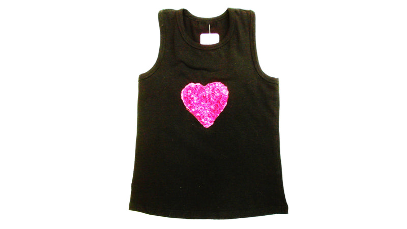 Black Heart Tank Top