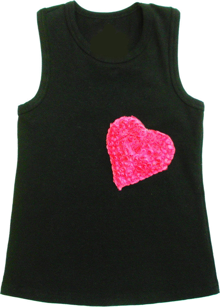 Black Heart(Side) Tank Top