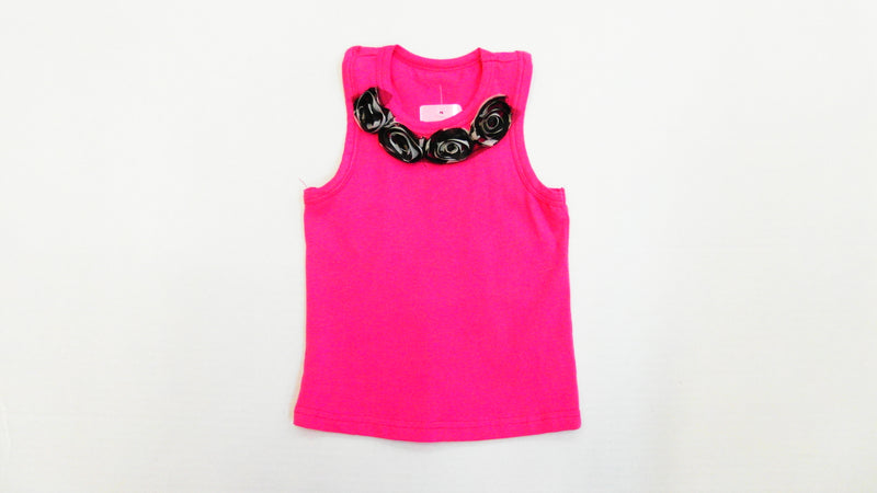 Hot Pink Zebra Flower Tank Top