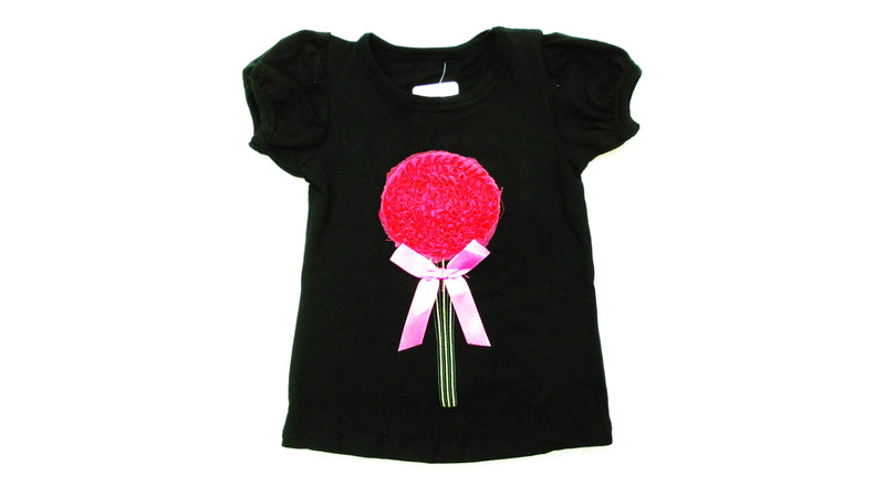 Black Flower Short Sleeve Shirt