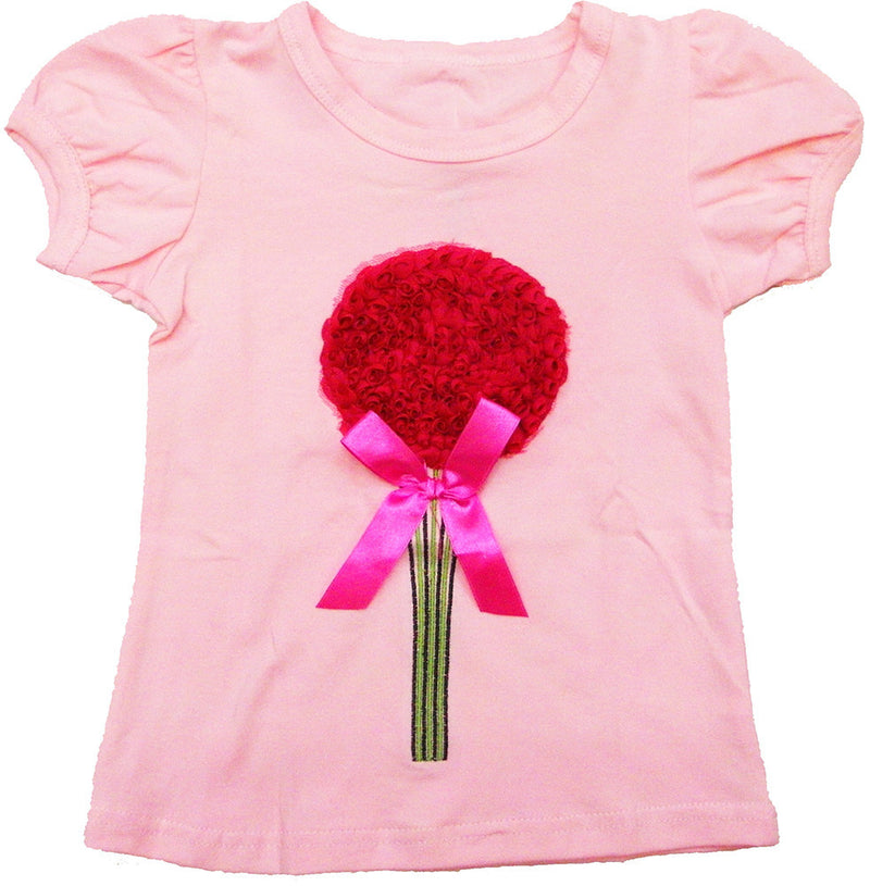 Pink Flower Short Sleeve Shirt