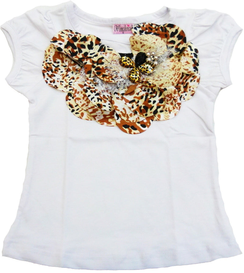 White Leopard Bell Short Sleeve Shirt