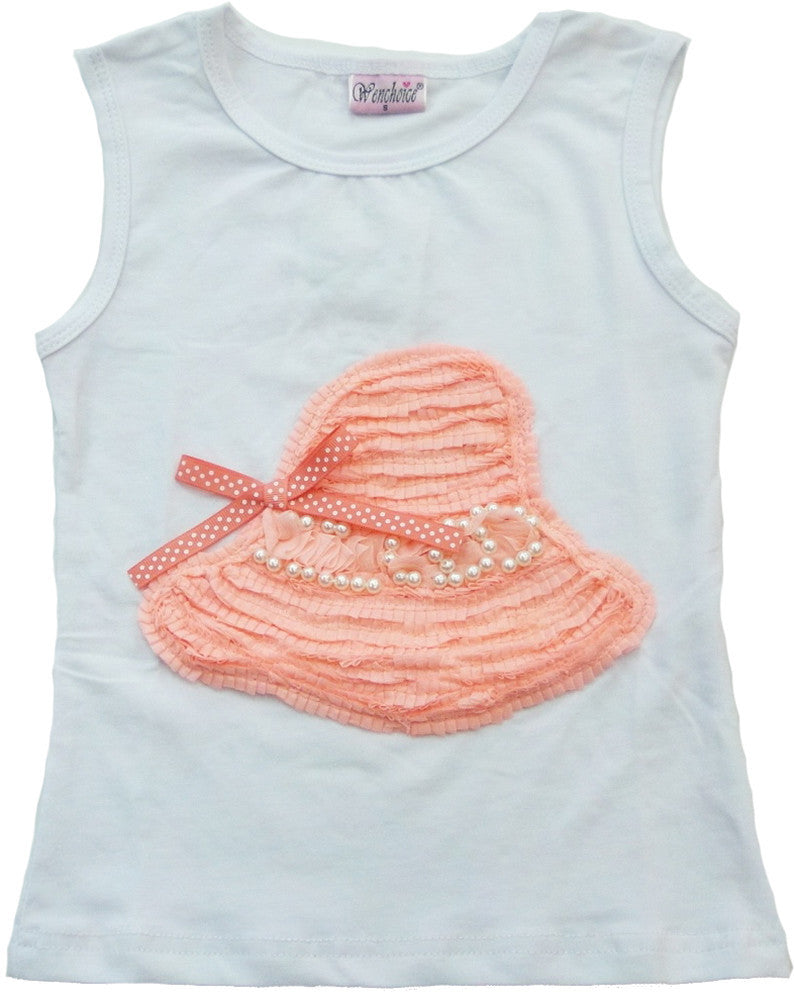 White Coral Hat Tank Top