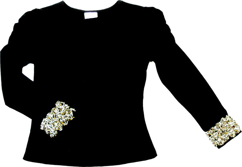 Black Leopard Flower Long Sleeve Shirt