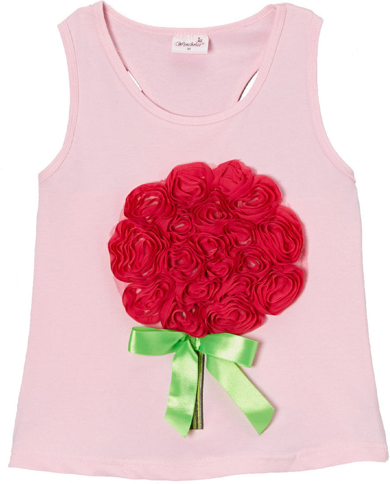 Pink Rose Bouquet Tank Top