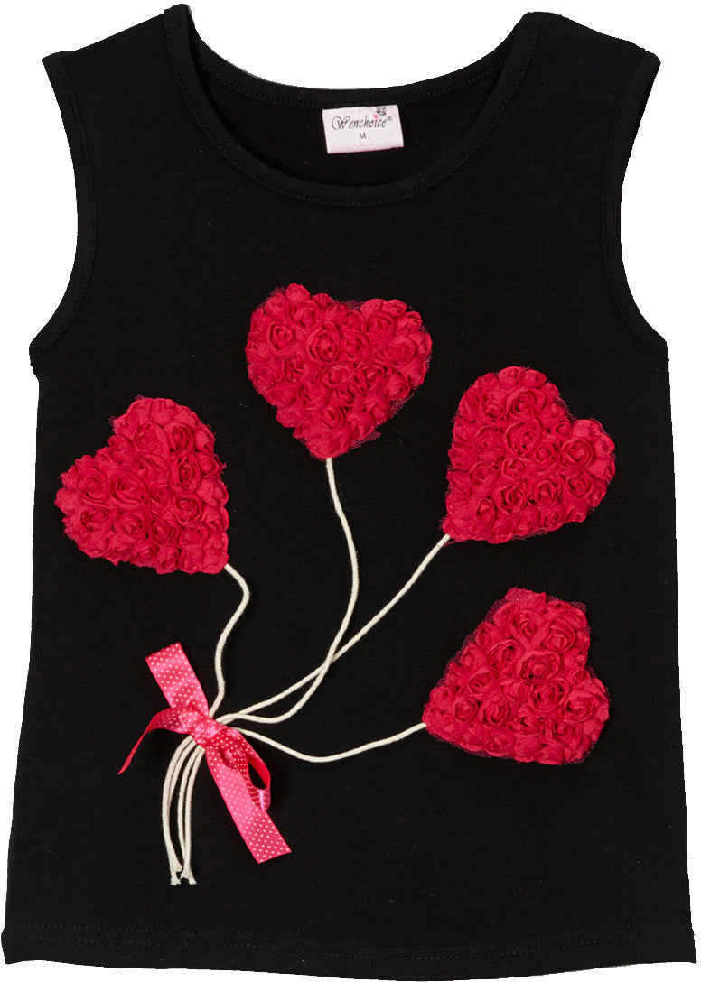 Black Heart Balloon Tank Top