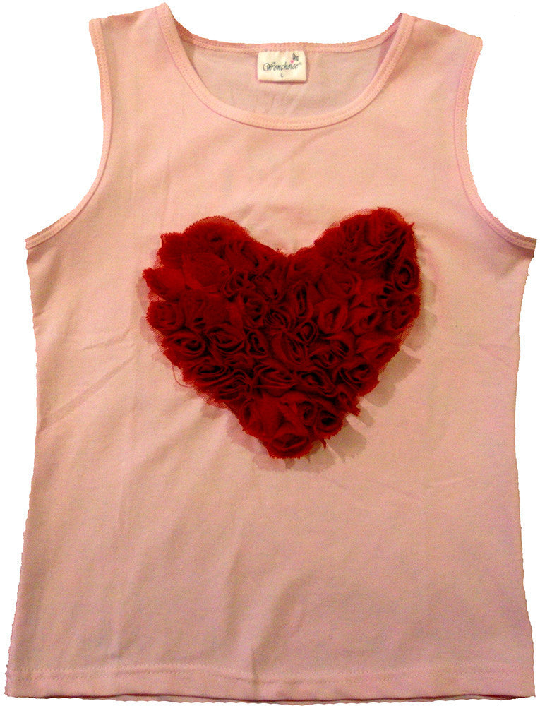 Pink Red-Heart Tank Top