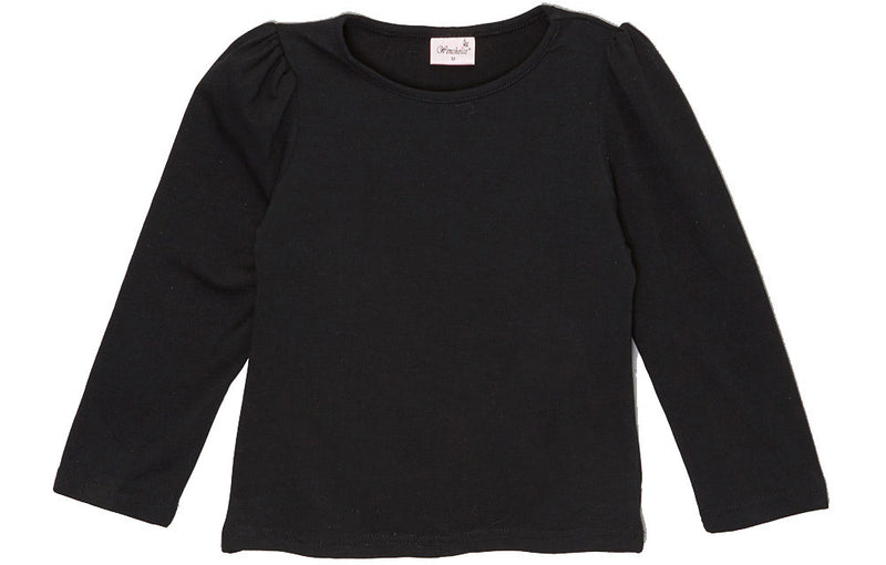 Black Plain  Long Sleeve Shirt